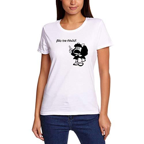 Playa Comics Frases - Camiseta Mujer Manga Corta (S)
