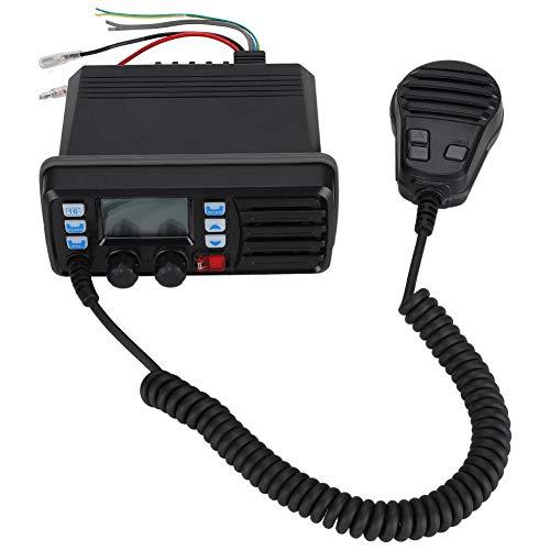 Qioni Kompaktgröße ABS Material Boot UKW-Radio, Schwarzes Bootsradio, für Boot