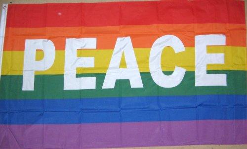 5 'x3' Drapeau arc-en-ciel Gay Pride paix