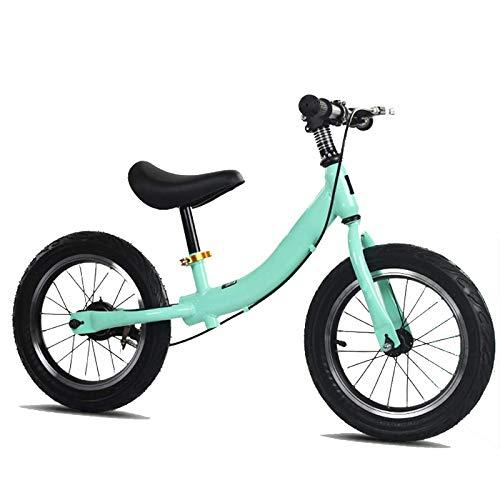 MEETGG Bicicleta de equilibrio para niños con freno, marco de acero de alto carbono, sin pedal, bicicleta para niños pequeños, asiento ajustable, ligero y deportivo para niños