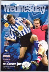 Sheffield Wednesday v Crewe Alexandra Official Match Day Programme (Saturday, 12th January, 2002)