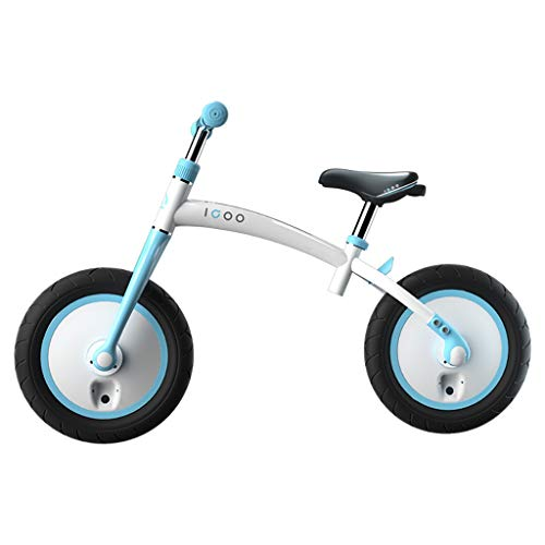 HLD 12 Pulgadas Adecuado for 2 a 6 años de antigüedad de aleación de aleación de Aluminio Bicicleta Totalmente Cerrada. Rim Ajustable Balance de Balance Deportivo Portátil Bicicletas sin Pedales
