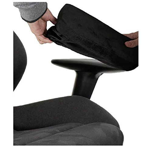 ZIRAKI Memory Foam Chair Armrest Pad, Comfy Office Chair Arm Rest Cover for Elbows and Forearms Pressure Relief (Set of 2) Rest Your arm on a Foam Cushion Pillow at Your Office Desk or Home