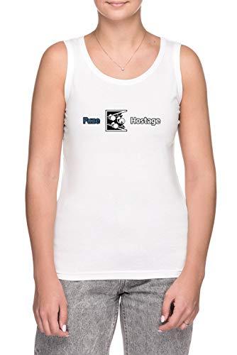 Erido Dont Fuze The Hostage! Donna Canotta T-Shirt Bianco Dimensioni XL Women's Tank T-Shirt White X-Large Size XL