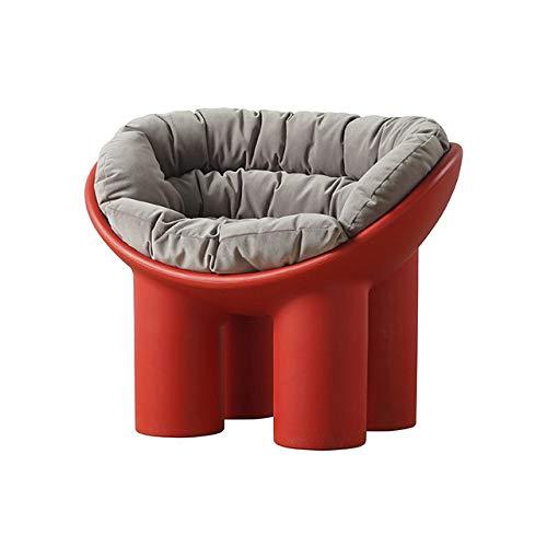 WUJNFAJFA Sofá Individual sillón balcón para el hogar sillón Creativo Funda para pies de Elefante cojín Suave Moldeado para pies Hermoso y práctico, cojín GT Rojo