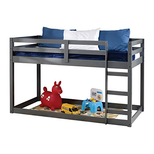WYFDJ Wood Loft Bed Twin with Multifunctional Base and Built-in Ladder for Family Bedroom and Student Apartment Low Raised Bed is a Good Choice for Children U.s. Local Delivery Can Arrive Quickly
