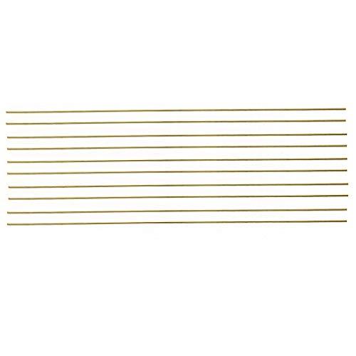 MXBIN 10pcs neue Messingstangen Drähte Sticks 1.6x250mm Gold for Reparatur Schweißen Löten Löten Hardware-Reparaturwerkzeuge