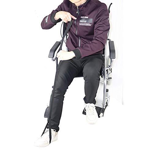 DYWOZDP Lifter Strap Oberschenkel und Bein - Mobilität Aufzug Bein Raiser, Nylon Leg Lifter Band mit Fussstreifen Mobilitätshilfen Behinderung Ältere für Senioren, Behinderte, Double Loop