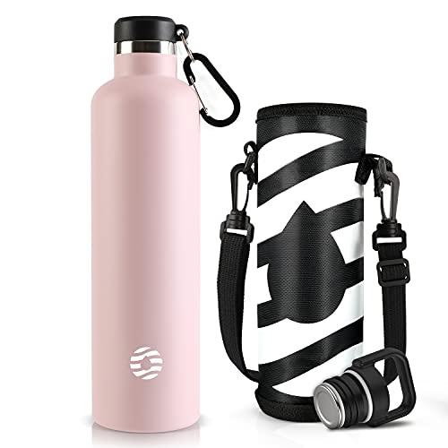 FJbottle 1リットル 水筒 ステンレスボトル 真空断熱 保温保冷 まほうびん 直飲み スポーツボトル 漏れなし...