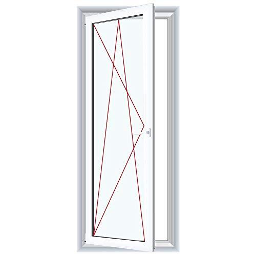 Bodentiefe Fenster Weiß - Dreh-Kipp Fenster - Anschlag:DIN Links, Glas:3-Fach, BxH:600x2000