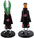 Gddg 2 Habitaciones/Set de Anime Naruto Akatsuki Uchiha Madara & Zetsu 16 cm-18 cm Figurines de PVC