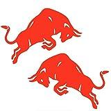 JZLMF Jumping Bull Red Bull Coche Pegatina Vinilo calcomanía Accesorios de Motocicleta Pegatina Reflectante 15 * 10Cm