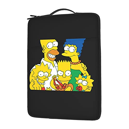 The Simpsons Laptop Sleeve Case Notebook Computer Slim Computer Carry Bag Waterproof Protective Cover with Pock 13 Inch