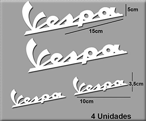 Ecoshirt HC-HM49-DR47 Sticker Vespa R74 Aufkleber Decals Autokollants Desivi weiß