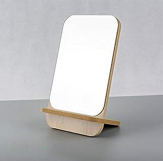 WAQIF Makeup Mirror Wood Frame Rustic Finish for Vanity Set Dresser Bedroom Bathroom Decorative Countertop Stand Mirror (1...