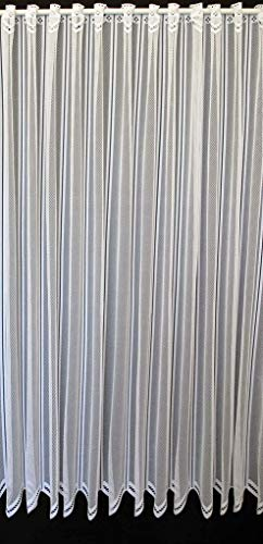 frankgardinen Scheibengardine neutral 120 cm hoch Weiß - Breite frei wählbar durch gekaufte Menge in 12,5 cm Schritten - Bistrogardine Küche Voile Vorhang