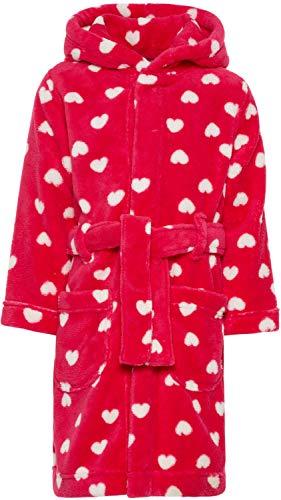 NAME IT Mädchen Bademantel mit Kapuze und Gürtel NMFRAVALUTA, Größe:104, Farbe:Virtual pink