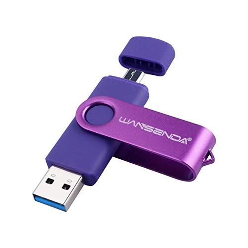 New Usb 3.0 Wansenda OTG USB flash drive for SmartPhone/Tablet/PC 8GB 16GB 32GB 64GB 128GB 256GB Pendrive High speed pen drive-purple_8GB