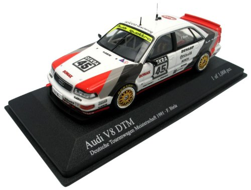 Minichamps 400911445 Audi V8 Team Azr F. Biela Dtm Champion 1991 Auto Da Gara Scala 1/43