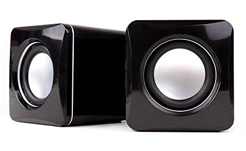 DURAGADGET Altavoces Compactos para Portátil ASUS K540LA-XX1342T, ASUS K540LA-XX1339T, Lenovo Yoga 920-13IKB - Tamaño Mini - Conexión Mini Jack + USB