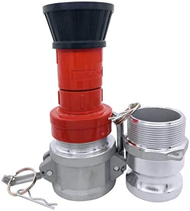 SpringSpray 2 NPSH Heavy Duty Industrial Fire Hose Nozzle with 2 x Aluminum 2 inch Camlock Fittings product image