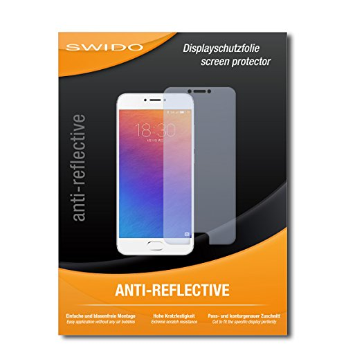 SWIDO Schutzfolie für Meizu Pro 6 [2 Stück] Anti-Reflex MATT Entspiegelnd, Hoher Festigkeitgrad, Schutz vor Kratzer/Bildschirmschutz, Bildschirmschutzfolie, Panzerglas-Folie