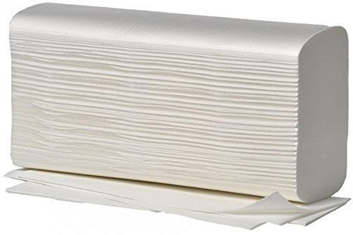 150 Blatt Handtuchpapier 23 cm x 25 cm weiss Zick-Zack, V-Falz, 2-lagig, 20 x 150 Blatt