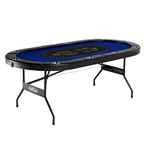 Barrington Texas Holdem Poker Table for 10 Players with Padded Rails...