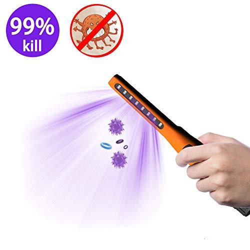 YYEWA UV Desinfektion Sterilisations Lampe, Antibakterielle Rate 99% Tragbare UV C-Sterilisationslampe, Handheld UV Germicidal Lampe Sterilisator Desinfektionsmittel für Bakterien Schimmelpilze