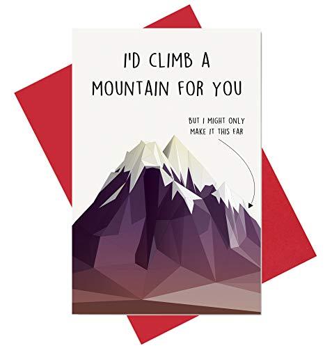 Funny Birthday Card for Boyfriend, Funny Anniversary Card, Husband Birthday Card, Climb a Mountain