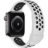 Fengyiyuda Compatibile con Cinturino Apple Watch 38mm 40mm 42mm 44mm, Cinturino di Ricambio in Silicone per Iwatch series...