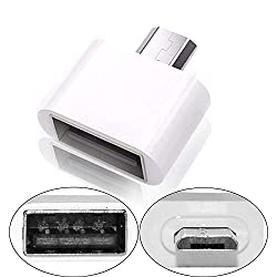 Storite Cute Little Square OTG Adapter for Smartphones & Tablets- White