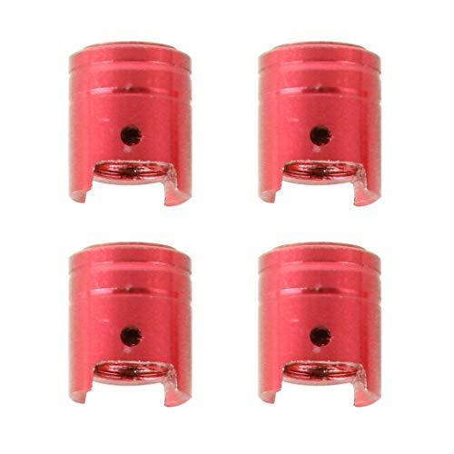 Vélo 4 PCS Barrel Universelle Forme de Voiture Moteur de Pneu de Bicyclette Valve Caps (Noir) Asun (Color : Red)