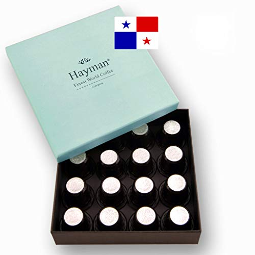 100% Panama Geisha coffee pods compatible with Nespresso®* Original Machines - One of the world's best coffees, freshly roasted for you on shipment day! (Box with 16 pods)