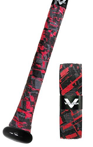 Vulcan Bat Grip, Vulcan 1.75mm Bat Grip, Red Sizzle