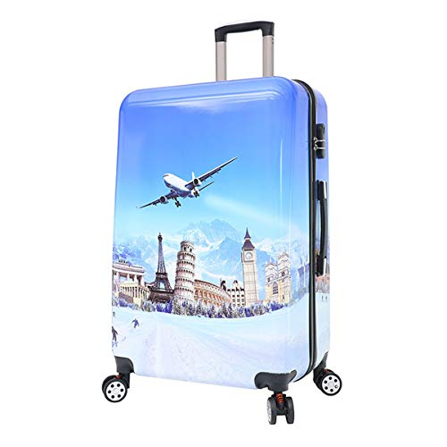 fosa1 Hand Luggage Trolley case PC Fashion Suitcase, Male Leisure Suitcase, Female Portable Universal Wheel Boarding Suitcase, 20, 24 Inch (Size : 24inch)