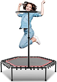 Ancheer Mini Trampolines Trainer with Adjustable Handle Bar