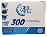 OptiWipes  300 Toallitas Húmedas Individuales - Limpia y desinfecta lentes,...