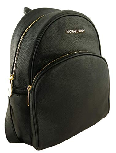 Michael Kors Abbey Medium Genuine Pebble Leather Black