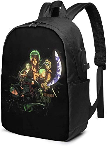 Anime, Busin Anti Theft Slim Durable Laptops Backpack with USB Charging Port,School Backpacks 17in