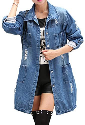 Damesjas mantel lange jeansjas getailleerd denim jack jeans denim jas modieuze completi blouson overgangsjas jas jas outwear trenchcoat lente lange cut outdoor oversizejas jacks