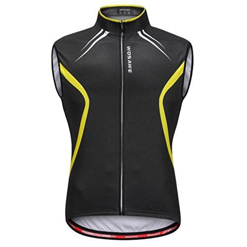 F Fityle Herren Damen Weste Radweste Windweste Jacke Laufweste Fahrradweste für Radfahren Radsport - XL