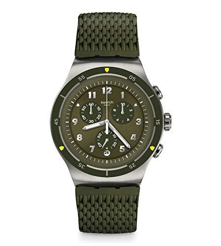 Swatch Reloj Cronógrafo para Hombre de Cuarzo con Correa en Caucho YOS461
