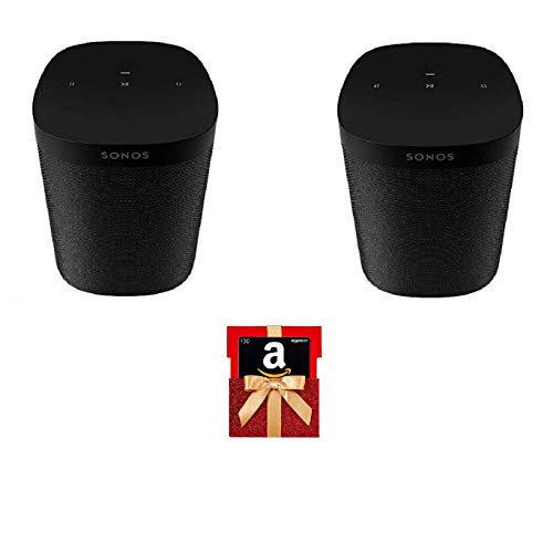 Sonos One SL Two Room Set with Free $30 Amazon Gift Card - Microphone-Free Smart Speaker
