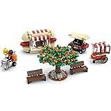 Myste City Street Park - Juego de construcción de bloques de construcción, 562 piezas, banco de aperitivos, modelo arquitectónico Street View compatible con Lego 60290