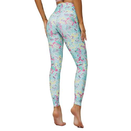 QTJY Pantalones de Yoga Transpirables y de Secado rápido Leggings elásticos de Cintura Alta Leggings Deportivos para Correr al Aire Libre F S