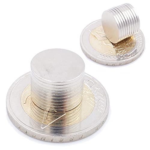 Brudazon | 25 Mini Imanes Discos 13x1mm | N52 Nivel más Fuerte - Los imanes de neodimio Ultra Fuertes | Imán del Poder para la Toma de Modelo, Foto, Pizarra Blanca | Pequeño, Redondo y Extra Fuerte