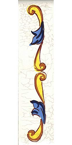 TORO DEL ORO Números casa. Numeros y Letras en azulejo. Calca cerámica. Estilo craquelé. Nombres y direcciones. Diseño Craquelé Grande 7,5x15 cms (Cenefa