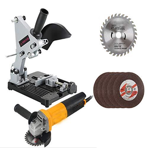 Amoladora Angular, 125 mm, 2000 W y 12000 RPM Herramienta con Interruptor de Paleta, 6 Ruedas para Esmerilar/Pulir/Cortar,Soporte amoladora angular
