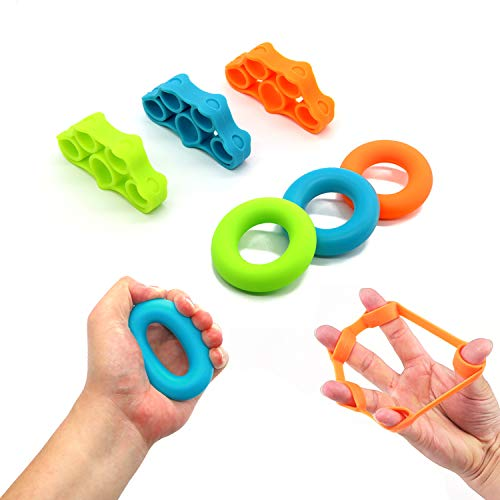 (6Pcs) - ZANPOON Finger Trainer and Hand...